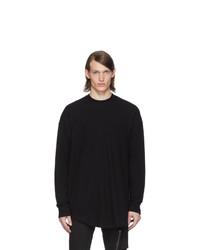schwarzer Pullover mit einem Rundhalsausschnitt von Julius