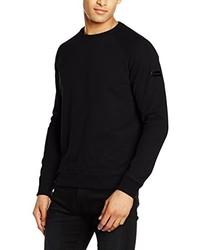 schwarzer Pullover mit einem Rundhalsausschnitt von Karl Lagerfeld