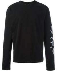 schwarzer Pullover mit einem Rundhalsausschnitt von Kenzo