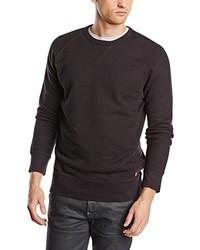 schwarzer Pullover mit einem Rundhalsausschnitt von Levi's