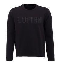 schwarzer Pullover mit einem Rundhalsausschnitt von Lufian
