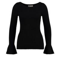 schwarzer Pullover mit einem Rundhalsausschnitt von Michael Kors