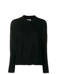 schwarzer Pullover mit einem Rundhalsausschnitt von MM6 MAISON MARGIELA