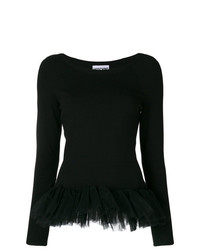 schwarzer Pullover mit einem Rundhalsausschnitt von Moschino