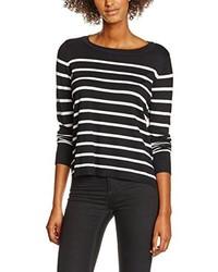 schwarzer Pullover mit einem Rundhalsausschnitt von Only