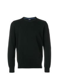 schwarzer Pullover mit einem Rundhalsausschnitt von Paul & Shark