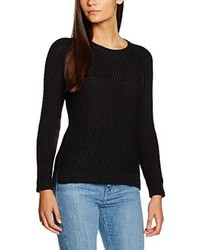 schwarzer Pullover mit einem Rundhalsausschnitt von Pepe Jeans