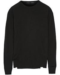 schwarzer Pullover mit einem Rundhalsausschnitt von Proenza Schouler