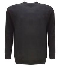 schwarzer Pullover mit einem Rundhalsausschnitt von replika