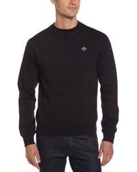 schwarzer Pullover mit einem Rundhalsausschnitt von Schott