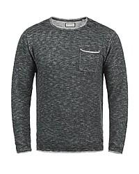 schwarzer Pullover mit einem Rundhalsausschnitt von Shine Original