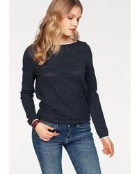 schwarzer Pullover mit einem Rundhalsausschnitt von Tommy Hilfiger