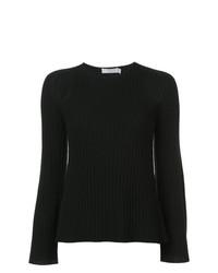 schwarzer Pullover mit einem Rundhalsausschnitt von Vince