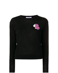 schwarzer Pullover mit einem Rundhalsausschnitt von Vivetta