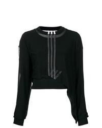 schwarzer Pullover mit einem Rundhalsausschnitt von Y-3