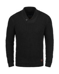 schwarzer Pullover mit einem Schalkragen von BLEND