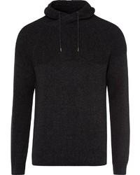 schwarzer Pullover mit einem Schalkragen von Esprit