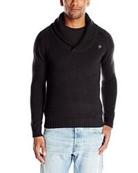 schwarzer Pullover mit einem Schalkragen von G-Star RAW