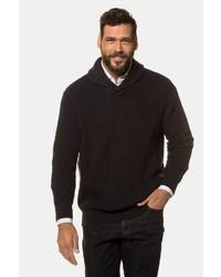 schwarzer Pullover mit einem Schalkragen von JP1880