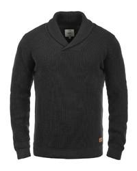 schwarzer Pullover mit einem Schalkragen von Redefined Rebel