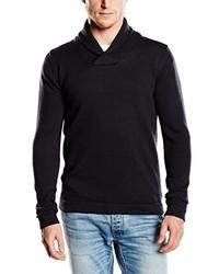 schwarzer Pullover mit einem Schalkragen von Selected Homme