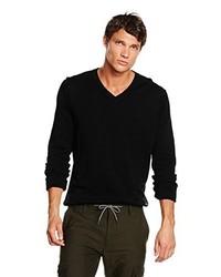 schwarzer Pullover mit einem V-Ausschnitt von Boss Orange