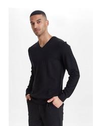 schwarzer Pullover mit einem V-Ausschnitt von CASUAL FRIDAY
