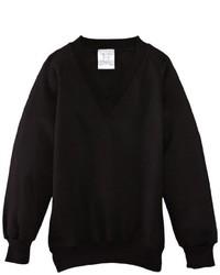 schwarzer Pullover mit einem V-Ausschnitt von Charles Kirk Coolflow