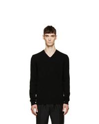 schwarzer Pullover mit einem V-Ausschnitt von Comme Des Garcons Play