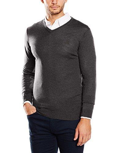 schwarzer Pullover mit einem V-Ausschnitt von Cortefiel