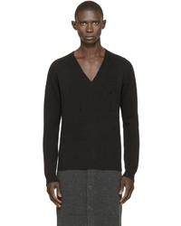 schwarzer Pullover mit einem V-Ausschnitt von Givenchy
