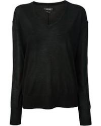 schwarzer Pullover mit einem V-Ausschnitt von Isabel Marant