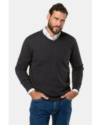 schwarzer Pullover mit einem V-Ausschnitt von JP1880