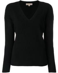 schwarzer Pullover mit einem V-Ausschnitt von MICHAEL Michael Kors