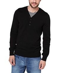 schwarzer Pullover mit einem V-Ausschnitt von Q/S designed by