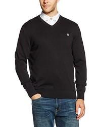 schwarzer Pullover mit einem V-Ausschnitt von Timberland