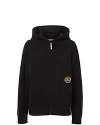 schwarzer Pullover mit einer Kapuze von Burberry