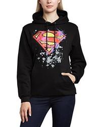 schwarzer Pullover mit einer Kapuze von DC Universe