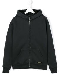 schwarzer Pullover mit einer Kapuze von Finger In The Nose
