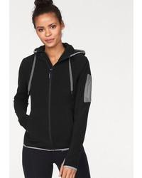 schwarzer Pullover mit einer Kapuze von KangaROOS