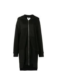 schwarzer Pullover mit einer Kapuze von MM6 MAISON MARGIELA