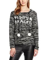 schwarzer Pullover mit einer Kapuze von Molly Bracken