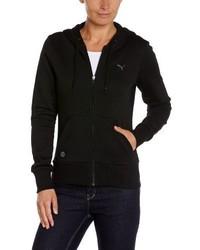 schwarzer Pullover mit einer Kapuze von Puma