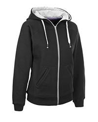 schwarzer Pullover mit einer Kapuze von Select