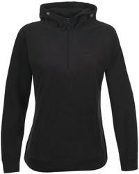 schwarzer Pullover mit einer Kapuze von Trespass