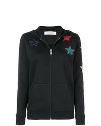 schwarzer Pullover mit einer Kapuze von Valentino