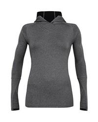 schwarzer Pullover mit einer Kapuze von Zoot