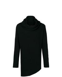 schwarzer Pullover mit einer weiten Rollkragen von Alchemy