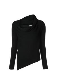 schwarzer Pullover mit einer weiten Rollkragen von Tome