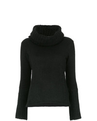 schwarzer Pullover mit einer weiten Rollkragen von Uma Raquel Davidowicz